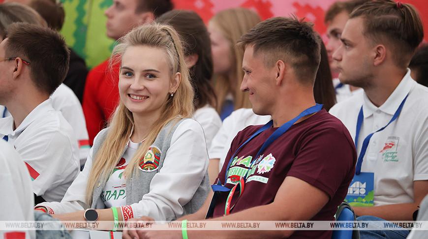 """Спортивно-образовательный форум для работающей молодежи """"Олимпия - 2020"""" начал свою работу в урочище Дубы Воложинского района"""
