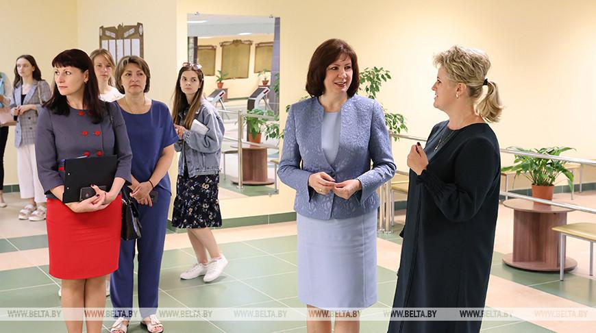 Кочанова посетила новую школу в Каменной Горке