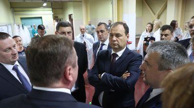 Головченко посетил Слуцкий сахарорафинадный комбинат