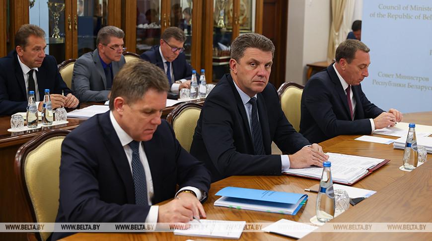 Состоялось заседание Президиума Совмина о выполнении принятых решений по импортозамещению