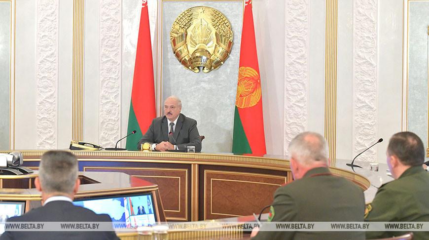 Лукашенко провел заседание Совета безопасности с участием по видеосвязи руководителей регионов