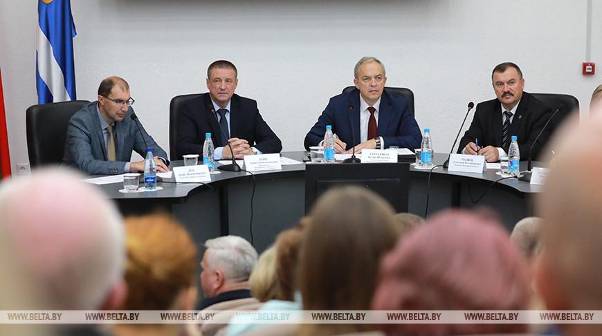Сергеенко встретился со студентами и преподавателями Могилевского госуниверситета
