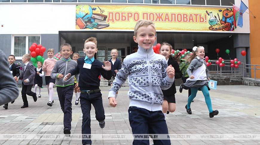 Церемонии открытия школы-новостройки №52 в минском микрорайоне Каменная Горка-3