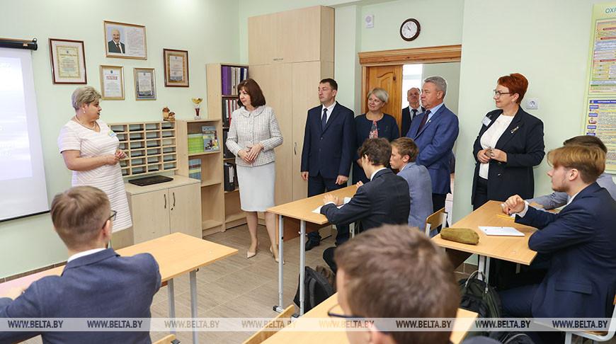 Кочанова посетила профессиональный лицей транспортного строительства