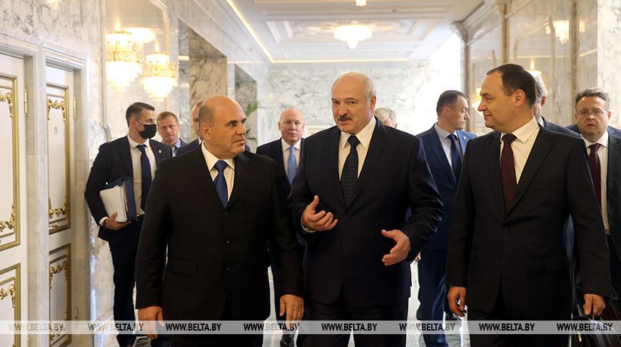 Лукашенко провел встречу с премьер-министром России Михаилом Мишустиным