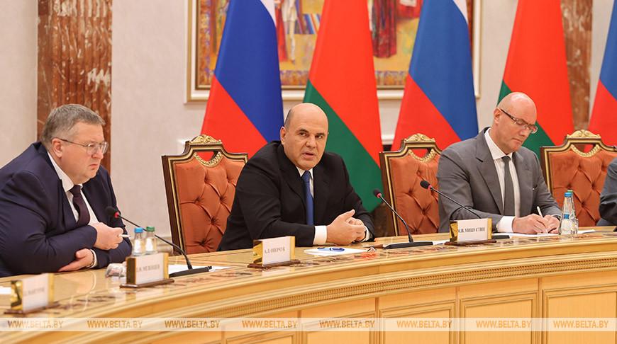 Встреча белорусской и российской правительственных делегаций состоялась в Минске
