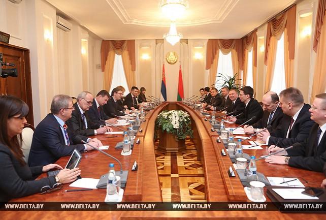 Встреча глав правительств Беларуси и Сербии в расширенном составе