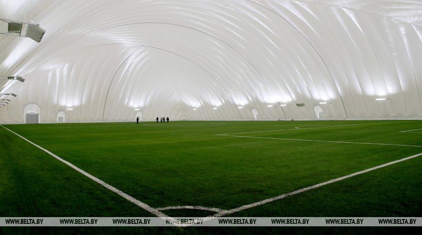 Крытый футбольный манеж заканчивают строить в Витебске