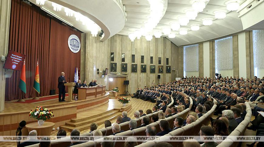 Лукашенко встретился в НАН с белорусскими учеными