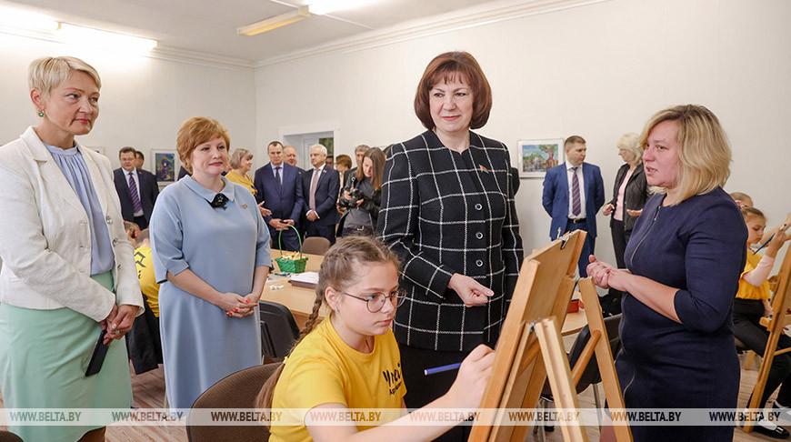 Кочанова посетила центр творчества детей и молодежи в Смиловичах