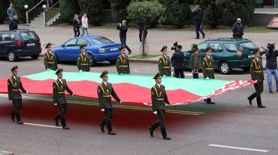 Флагшток высотой 60 м открыли в Гомеле