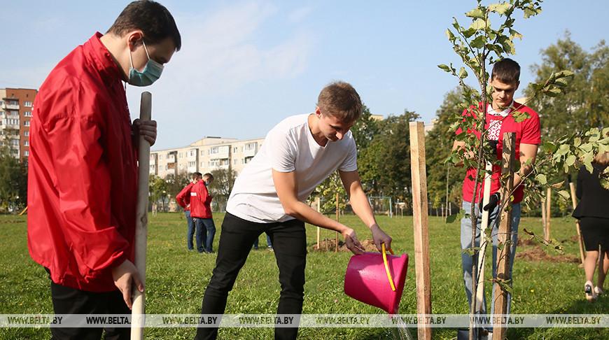 Сквер к 100-летию комсомола заложили в Гродно