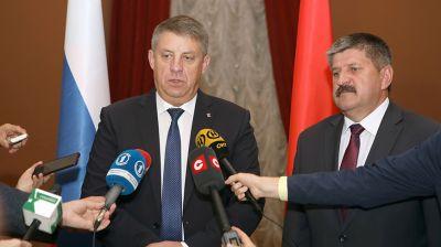 Председатель Гомельского облисполкома Геннадий Соловей встретился с губернатором Брянской области