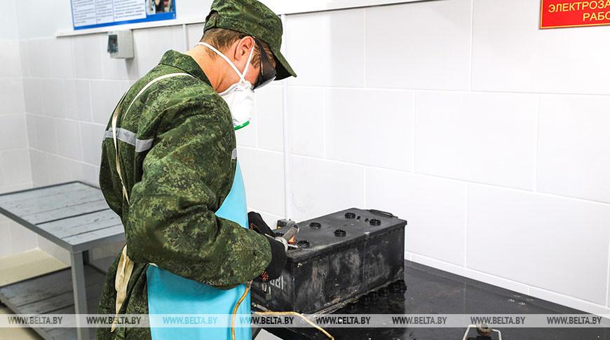 Пункт технического обслуживания и ремонта открыли в автопарке 38-й отдельной десантно-штурмовой бригады