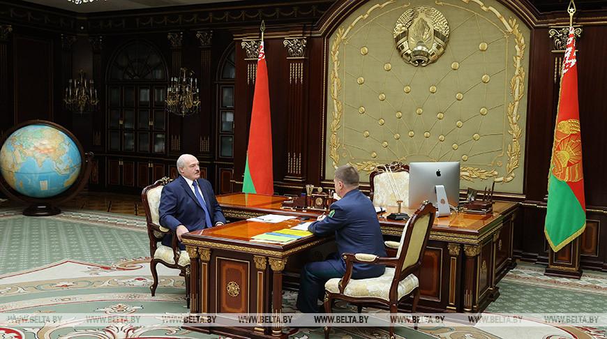 Лукашенко принял с докладом главу ГТК