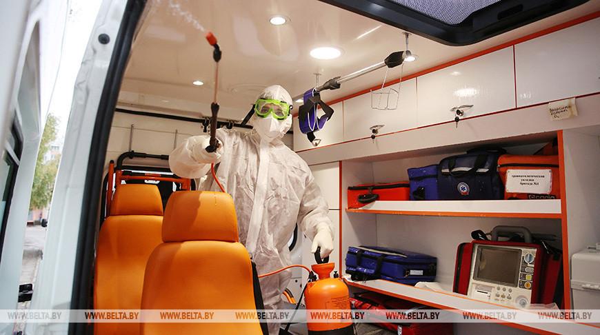 Автомобили скорой помощи в Гродно проходят усиленную обработку после транспортировки каждого пациента