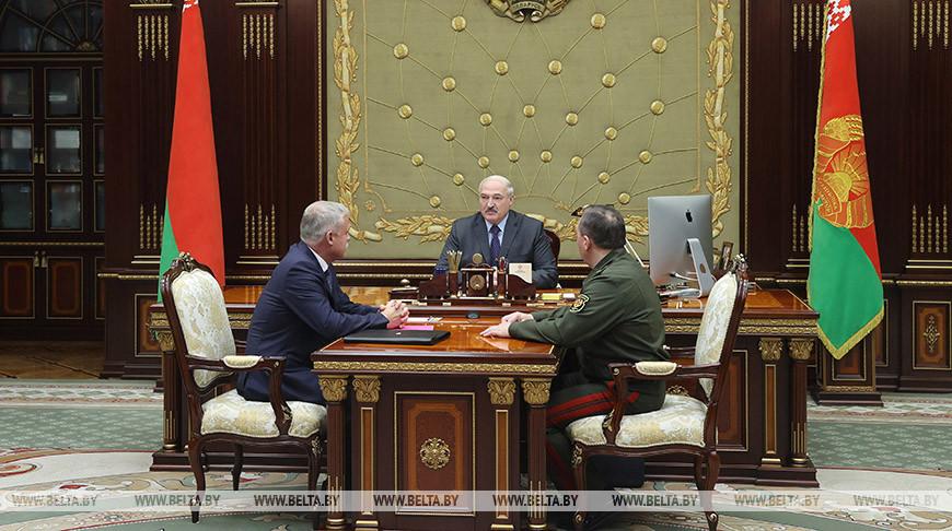 Лукашенко встретился с генеральным секретарем ОДКБ Станиславом Засем