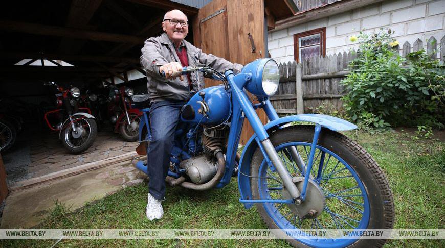 Пенсионер из Поречья собрал коллекцию ретромотоциклов