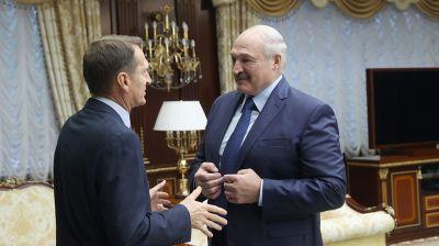 Лукашенко встретился с директором Службы внешней разведки России Нарышкиным