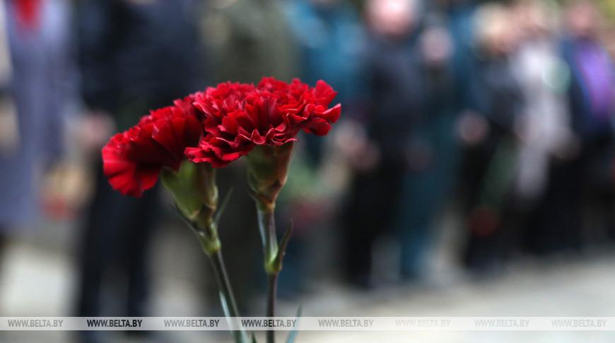 Останки 17 бойцов Красной армии перезахоронили в Чаусском районе