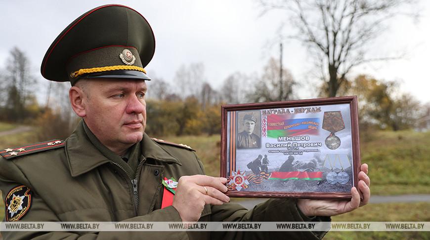 В Лиозненском районе перезахоронили останки погибших в годы войны солдат