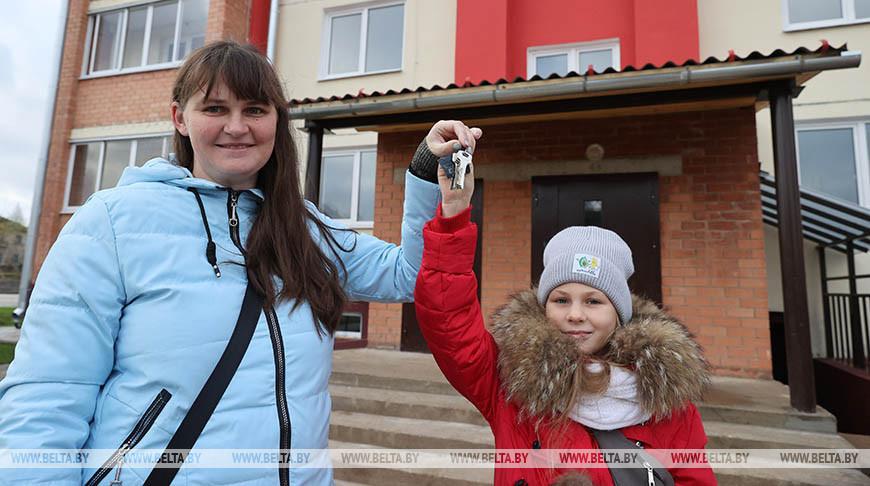 В Витебской области в этом году квартиры получила 901 многодетная семья