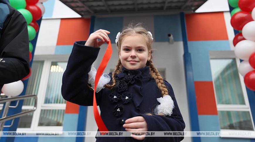 Новая школа открылась в Мядельском районе