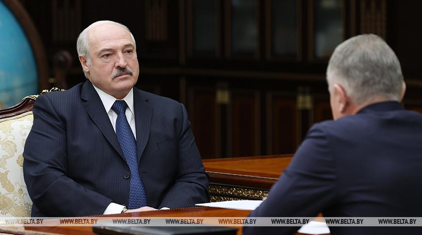 Лукашенко встретился с председателем Федерации профсоюзов Беларуси Михаилом Ордой