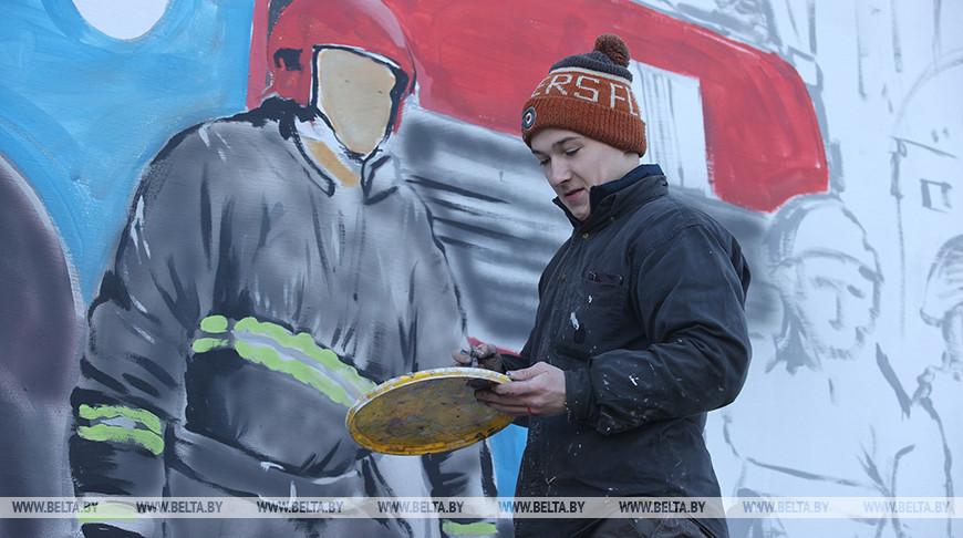 Масштабные тематические граффити появятся на стене управления МЧС в Гродно