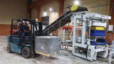 Новая линия по производству тротуарной плитки и дорожных бордюров запущена в Витебске