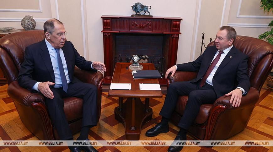 Встреча министров иностранных дел Беларуси и России состоялась в Минске