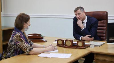Крутой провел личный прием граждан и представителей юридических лиц