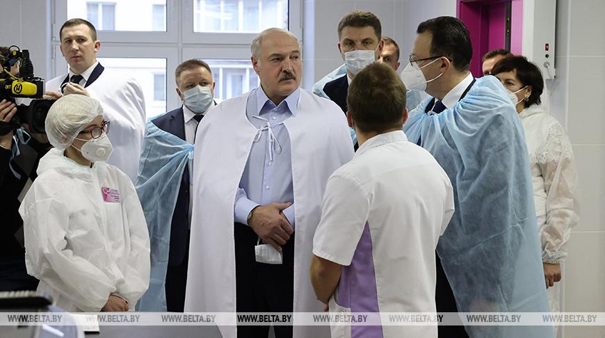 Лукашенко посетил 6-ю городскую больницу Минска
