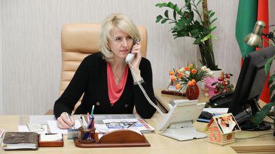 Татьяна Рунец провела прямую телефонную линию