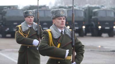 Новую технику белорусского производства передали на вооружение 74-му отдельному полку связи
