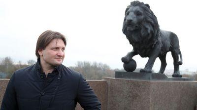 Запашный побывал на мосту в Могилеве, где установлены бронзовые львы