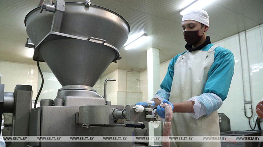"""Цех по переработке мяса агрокомбината """"Заря"""" изготавливает до 400 т продукции в месяц"""