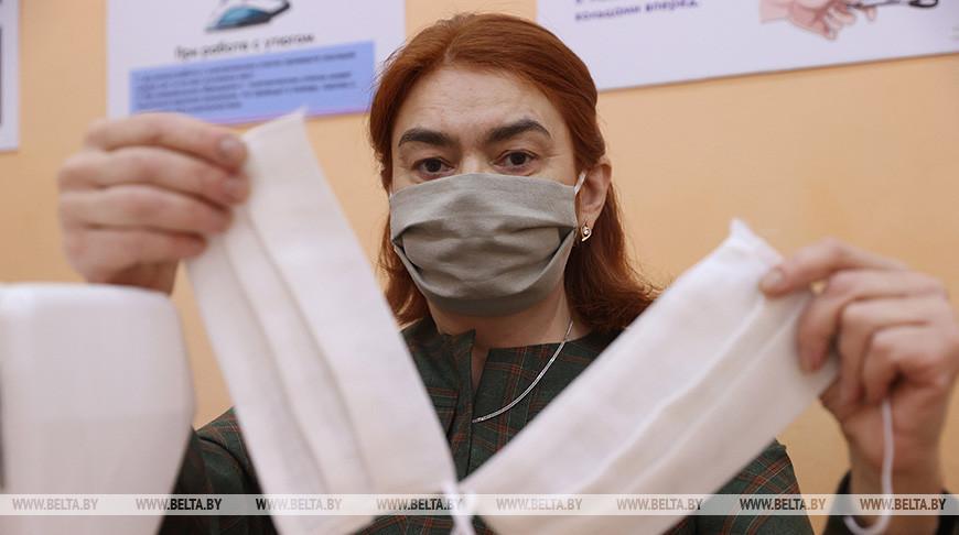 В центре соцобслуживания населения в Витебске наладили выпуск масок