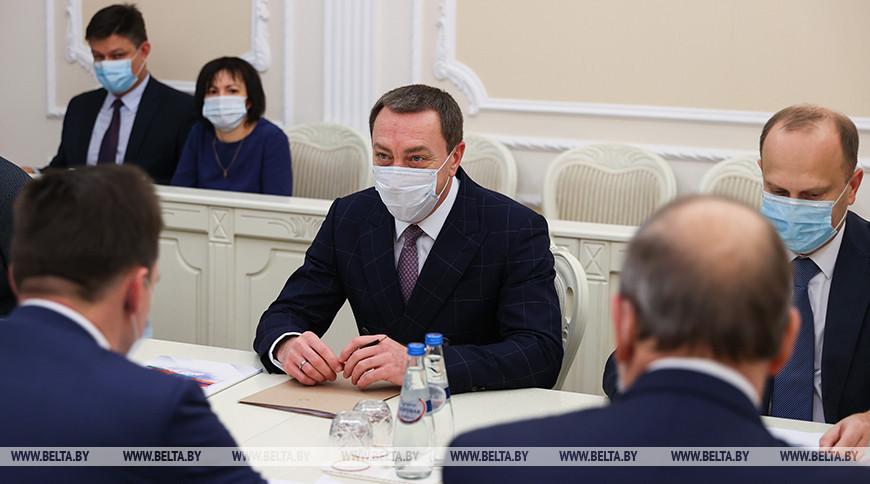 Снопков встретился с председателем правления Евразийского банка развития