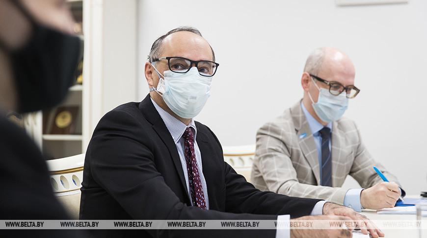 Пиневич встретился с главой странового офиса ВОЗ в Беларуси