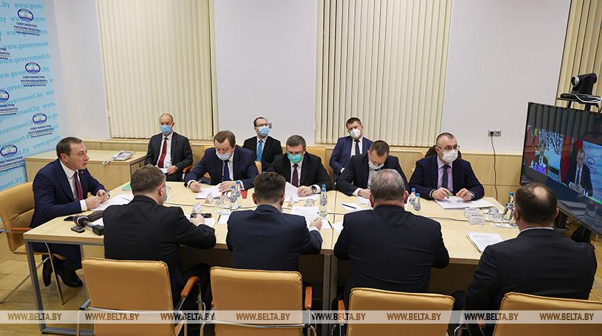 Заседание белорусско-китайского межправительственного комитета прошло в формате видеоконференции