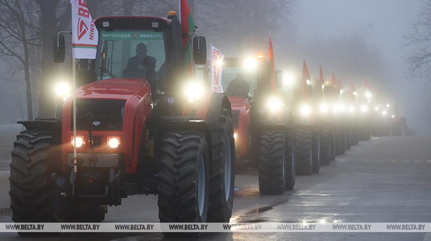МТЗ отправил 240 тракторов в Витебскую область