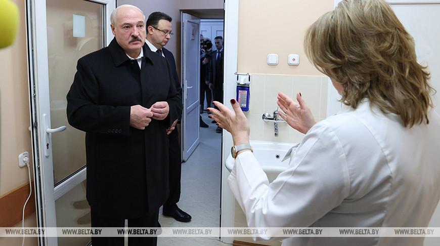 Лукашенко посетил детскую инфекционную больницу в Минске
