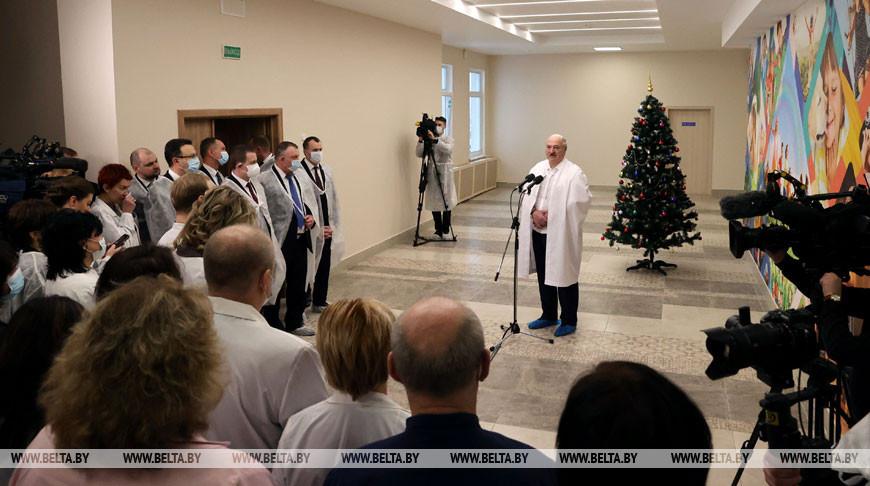 Лукашенко встретился с коллективом РНПЦ детской онкологии, гематологии и иммунологии