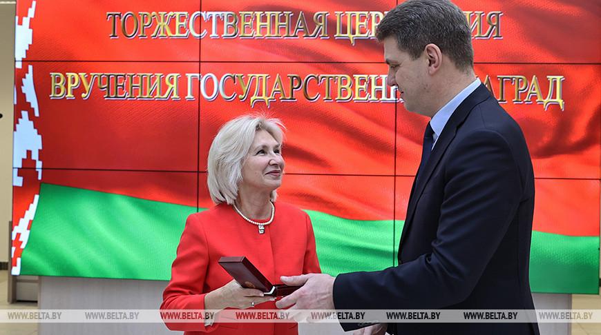 Церемония вручения госнаград прошла в Минской ратуше