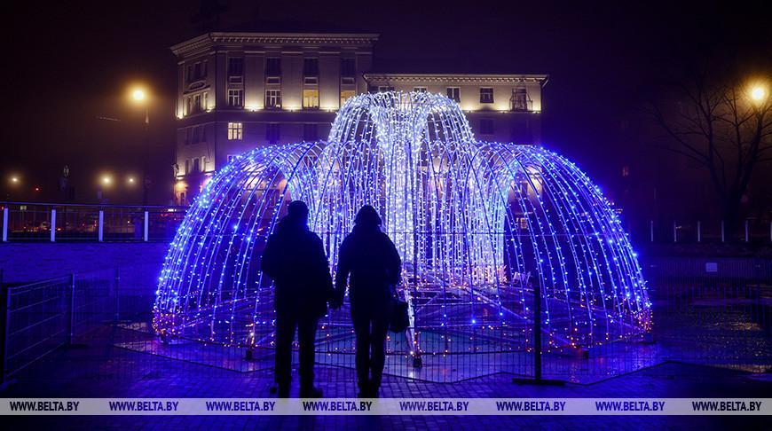 Новая световая инсталляция появилась в Минске