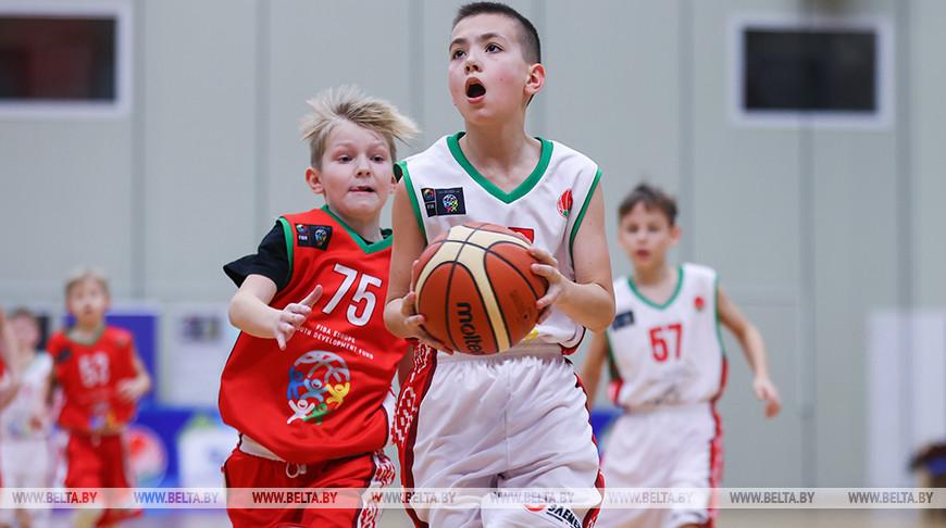Детский баскетбольный турнир проходит в Минске