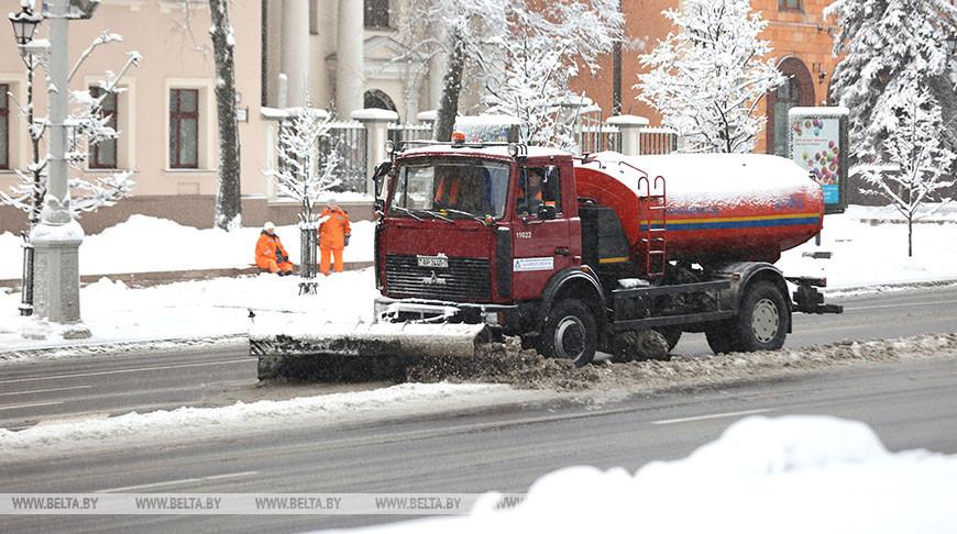 Более 620 единиц снегоуборочной техники вывели на улицы Минска