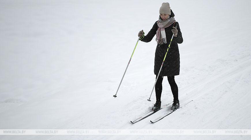 Минчане катаются на лыжах
