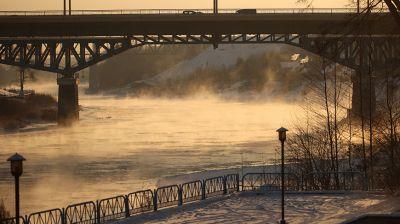 Температура воздуха утром 17 января в Гродно опустилась ниже -20°С